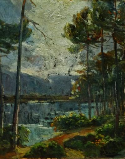 Jean-Philippe LAVAL - Peinture - Pins vers Arcachon