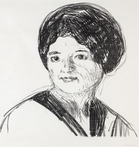 Edvard MUNCH - Grabado - Young woman
