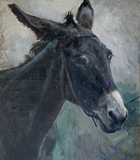 Ulpiano CHECA Y SANZ - Gemälde - Âne- Burro