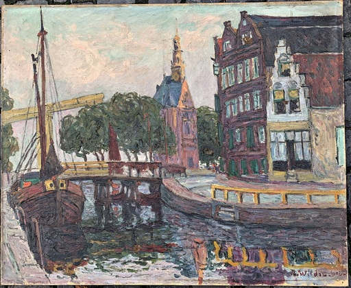 André WILDER - Painting - Kanal
