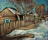 Valeriy NESTEROV - Pintura - Village. Novosibirsk region