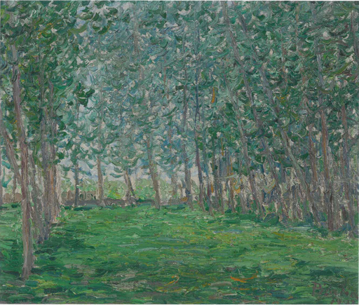 Francis PICABIA - Painting - Untitled ou Champ près d'un bois