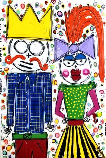 David FERREIRA - 绘画 - Madame t Monsieur Toto