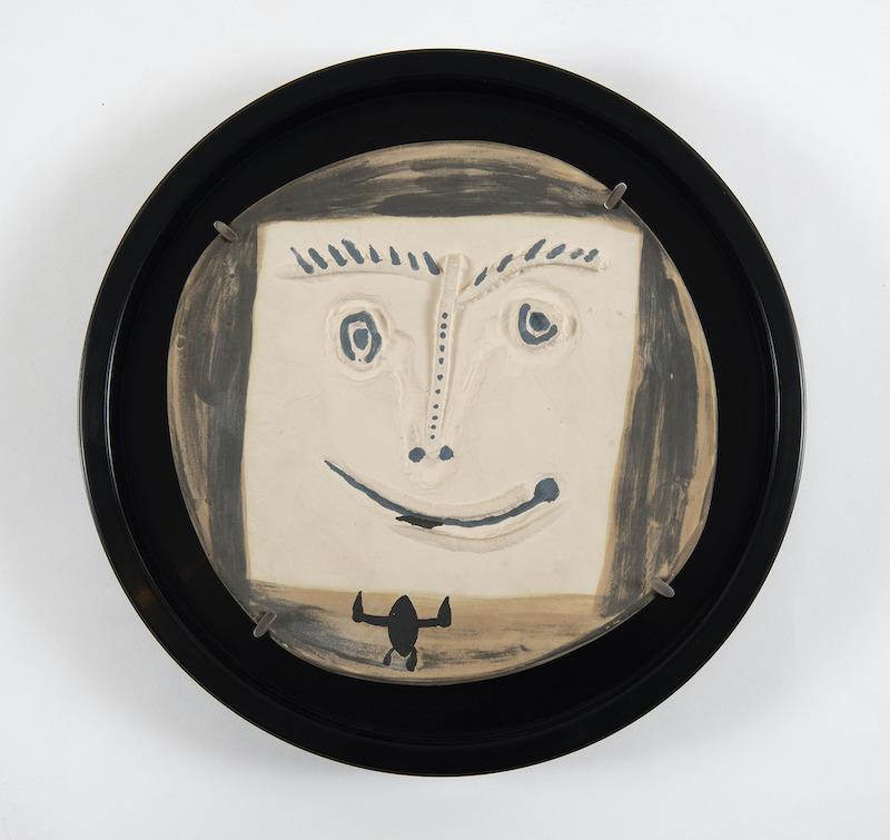 Pablo PICASSO - Ceramic - Visage à la cravate