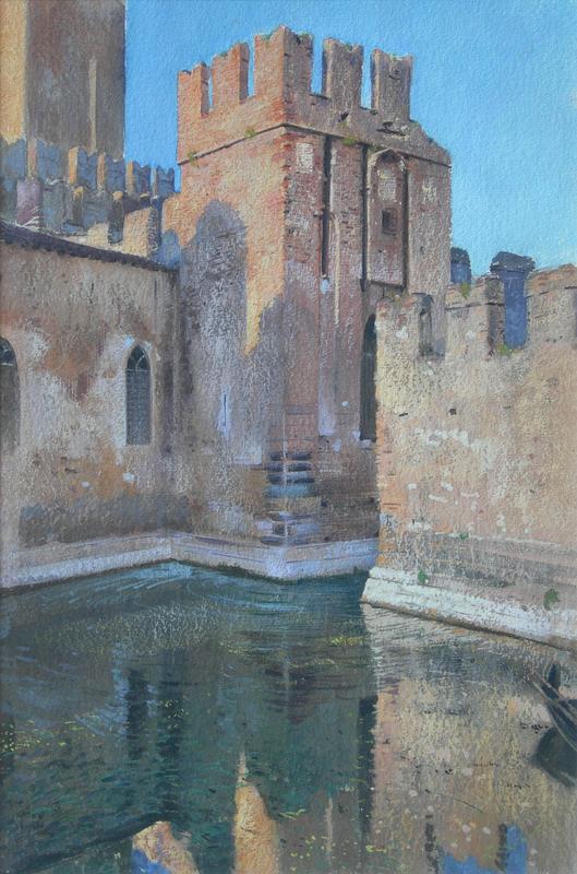 Adolf HIREMY-HIRSCHL - Pintura - Castello di Sirmione