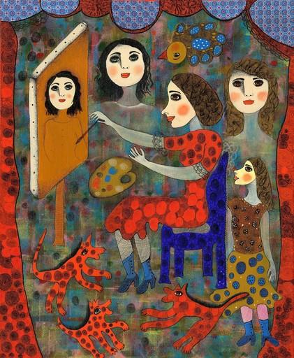 Claudine Marie Claire LOQUEN - Gemälde - Marthe en train de Peindre