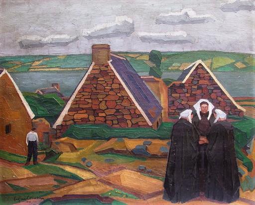 Eugène CORNEAU - Painting - Les parques