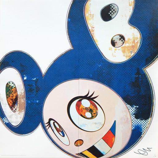 村上 隆 - 版画 - And Then 3000 Blue