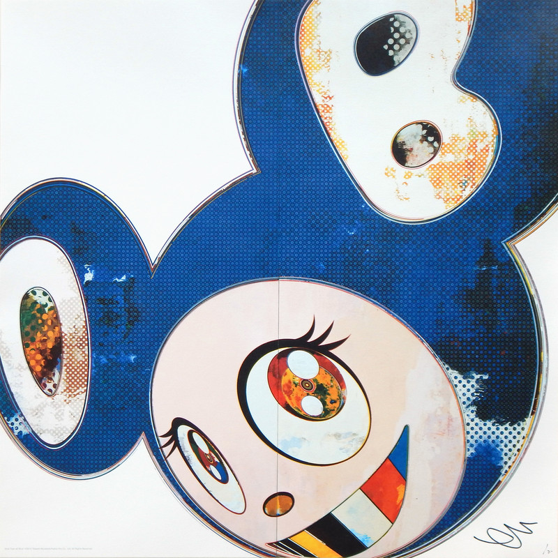 Takashi MURAKAMI - Print-Multiple - And Then 3000 Blue