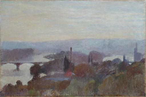 Joseph DELATTRE - Gemälde - Vue de Rouen