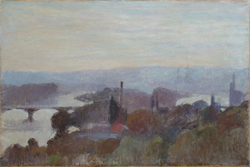 Joseph DELATTRE - Pintura - Vue de Rouen