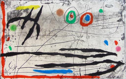 胡安·米罗 - 版画 - Mark on the Wall I |Trace Sur La Paroi I