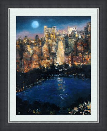 Levan URUSHADZE - Peinture - Blue Moon. NY City