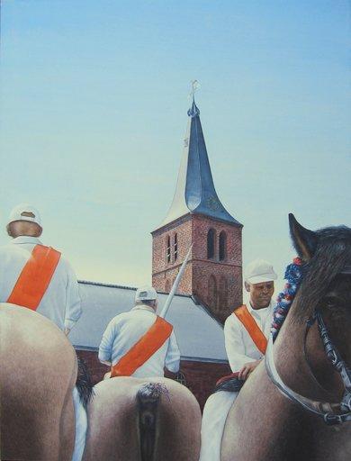 Paul WANS - Gemälde - Dutch Tent Peggers