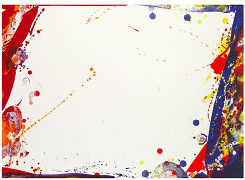 Sam FRANCIS - Print-Multiple - Blue Cut Sail