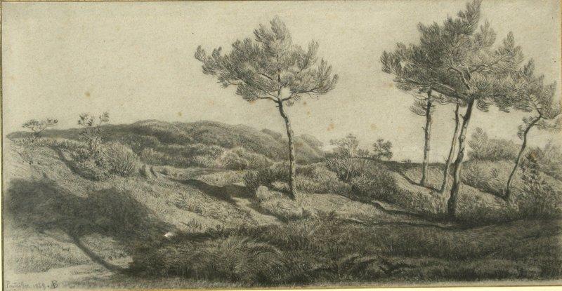 "Amédée BAUDIT - Drawing-Watercolor - ""LA GREVE A PONTAILLAC"""
