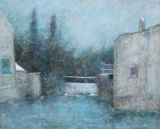 Bernard GANTNER - Pintura - Le vannage en hiver