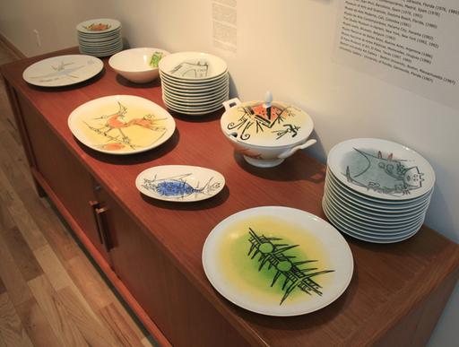 Wifredo LAM - Ceramic - Porcelana Albisola - full set of 42 ceramic works!