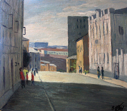 Valeriy NESTEROV - Peinture - Pushkarev lane. Moscow