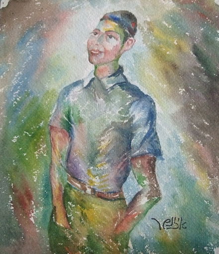 Jacob EISENSCHER - Drawing-Watercolor - Boy