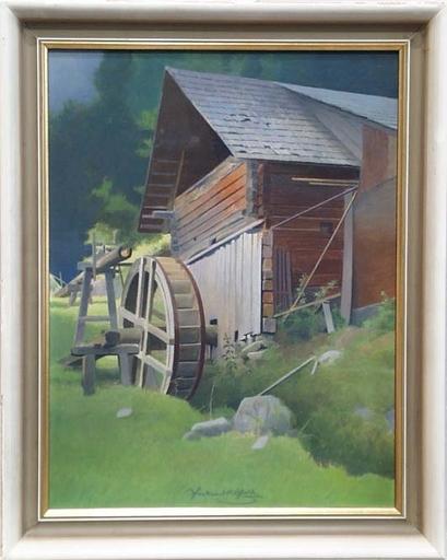 "Ferdinand Karl GOLD - Peinture - ""Water Mill"", Tempera, ca 1930"
