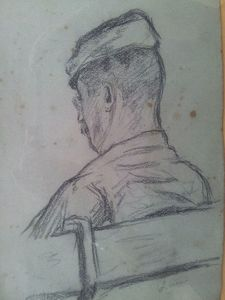 Maximilien LUCE, Man from the back