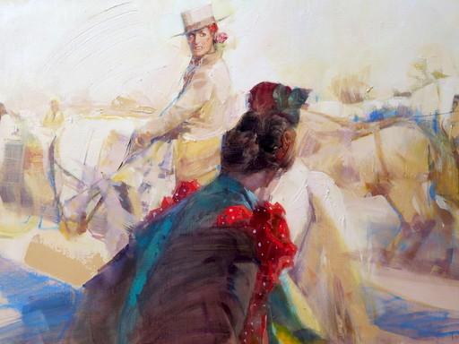 Jean Bernard LALANNE - Pittura - La cavalière