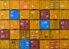 Sylvain LANG - Painting - Containers