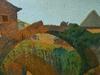 Henri BARBIER - Painting - Vue d'un village du sud-ouest, Pays-Basque