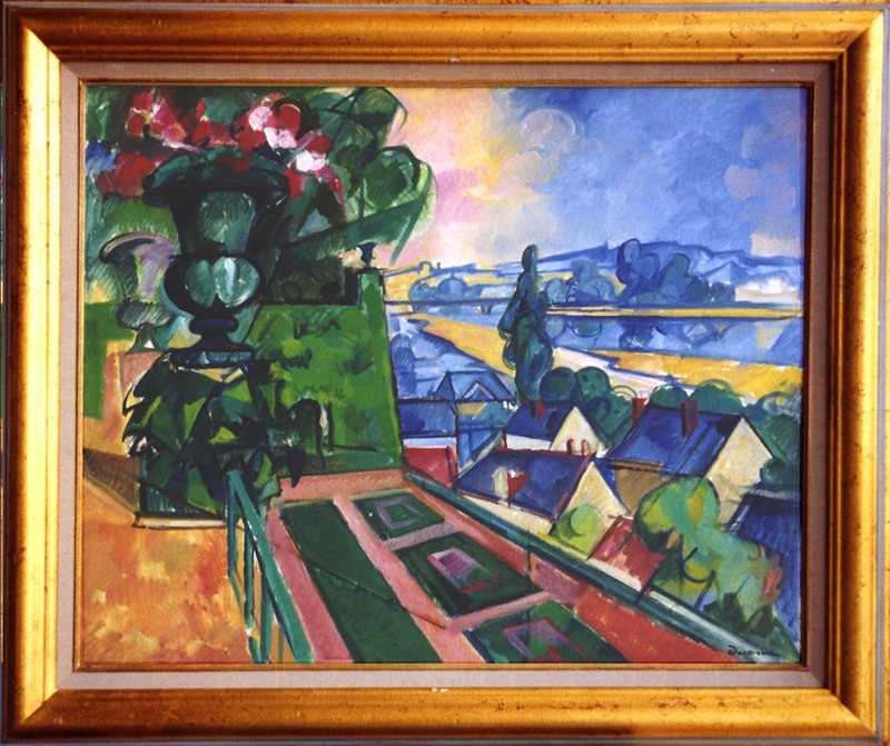 Jacques DESPIERRE - Pittura - Terrasse sur La Loire