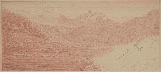 Filiberto MINOZZI - Dessin-Aquarelle - MOUNTAIN LANDSCAPE