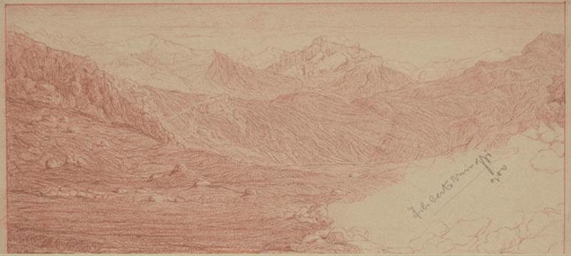 Filiberto MINOZZI - Zeichnung Aquarell - MOUNTAIN LANDSCAPE