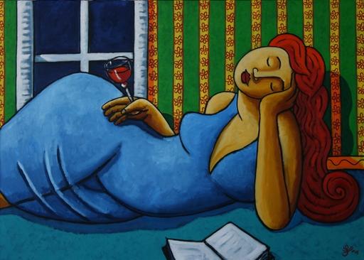 Jacques TANGE - Peinture - Booze and books    (Cat N° 4706)