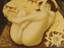 "Alain BONNEFOIT - Grabado - ""Intimités""1990."