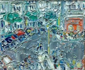 André COTTAVOZ - Painting - Raspail, Paris