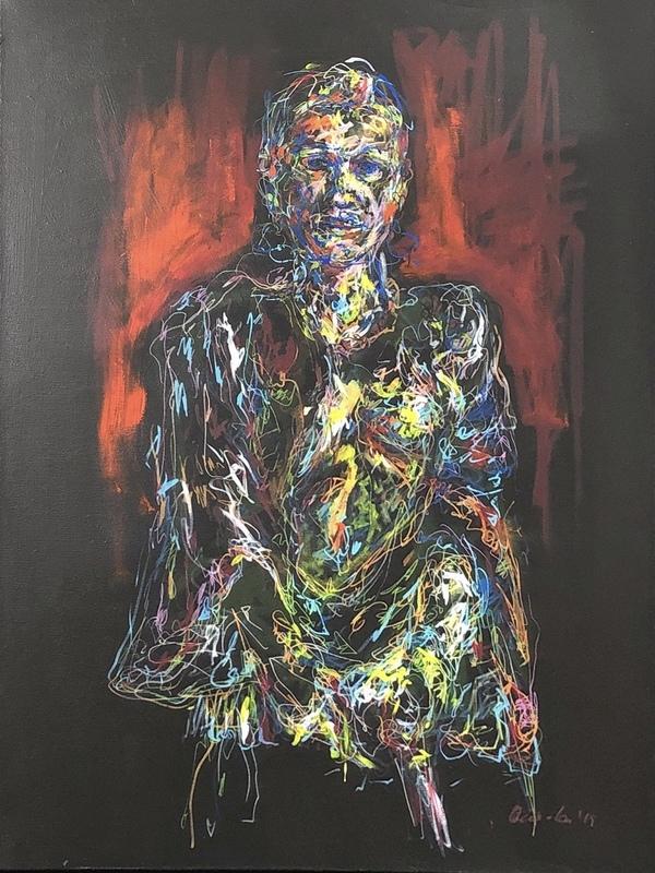 Nicole LEIDENFROST - Gemälde - The gun