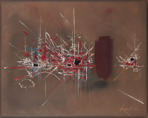 Georges MATHIEU - Pintura - Ambroisie