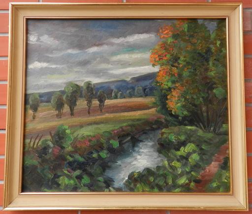 Vincenc BENEŠ - Pintura - Landscape before the storm