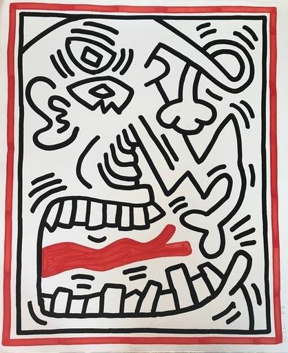 Keith HARING - Grabado - Untitled (red tongue)