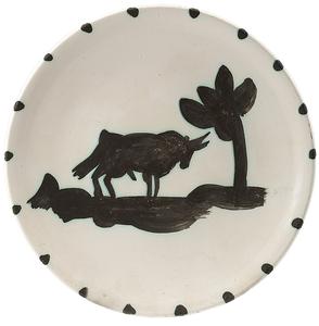 Pablo PICASSO - Ceramiche - Taureau sous l'arbre