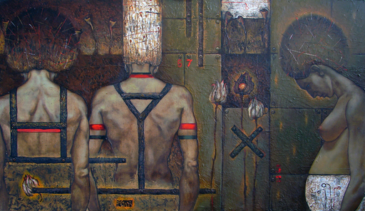 Maxim ORLITSKIY - Painting - Adultery