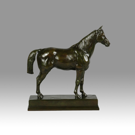 Antoine Louis BARYE - Sculpture-Volume - Cheval Demi-Sang