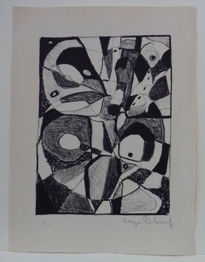 Serge POLIAKOFF - Estampe-Multiple - Lithographie en noir n°1