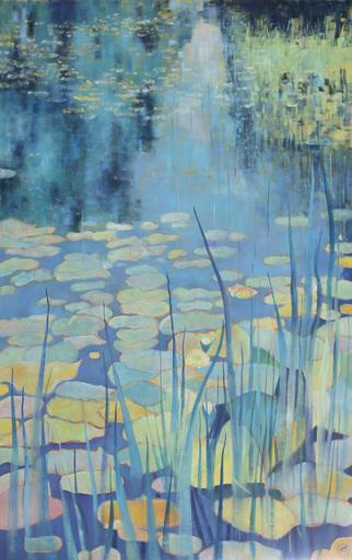 Marie-Pierre AUTONNE - Painting - Nuées de bleus
