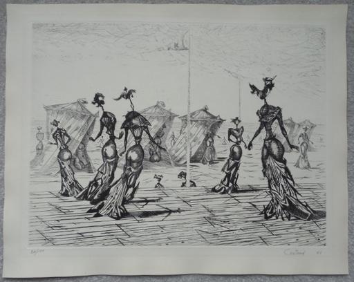 "Lucien COUTAUD - Print-Multiple - ""Les Belles de Mer""  (The Beautiful Sea)"