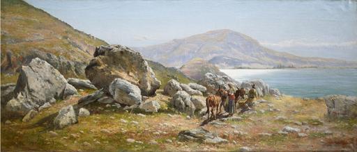 Cesare TIRATELLI - Peinture - Lago di Piediluco