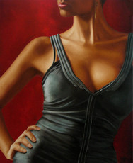 Annick BOUVATTIER - Pintura - Jeu de hanche