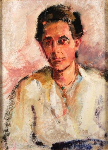 Ludwig BOCK - Peinture -  Portrait der Mutter