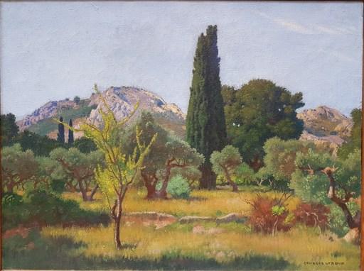 Georges Paul LEROUX - Gemälde - Paysage des Baux de Provence