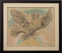 Pablo PICASSO - Estampe-Multiple - Rainbow dove